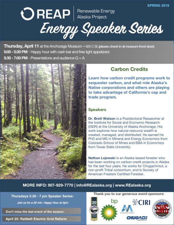 REAP Energy Speaker Series | Chugachmiut